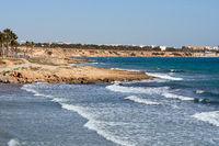 Rocky coast of Flamenco beach, Spain