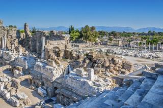 Amphitheatre, Side, Turkey
