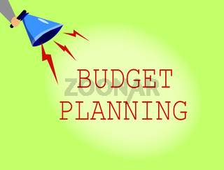 Conceptual hand writing showing Budget Planning. Business photo showcasing The written description about current and future expenses