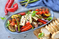 Grilled vegetables with feta cheese