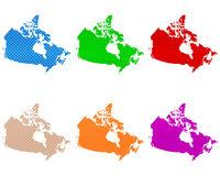 Karten von Kanada auf grobem Gewebe - Maps of Canada coarse meshed