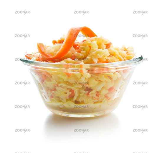 Bowl of coleslaw.