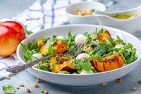 Arugula salad with grilled nectarines.