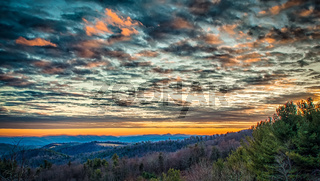 Sunset from Overlook on the Blue Ridge Parkway