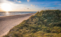 North sea beach, Jutland coast in Denmark