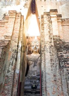 Wat Si Chum Temple in Sukhothai Historical Park ,Thailand.