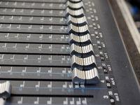 Soundboard mixer detail