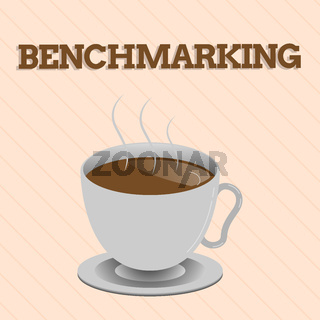 Word writing text Benchmarking. Business concept for Evaluate something by comparison with a standard Strategy