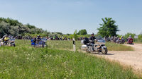Motor bikers Honda Goldwing start for a drive through Hungary