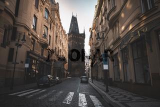 Street in Prague Old City Center