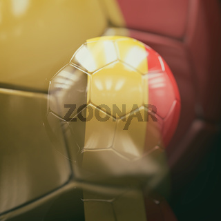 3d Soccer Ball with Belgium Flag Illustration