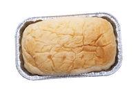 Homemade bread on white background