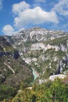 at Viewpoint Balcon de la Mescla in Verdon Gorge,Provence,Frankreich