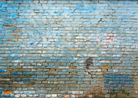 Old blue brick wall