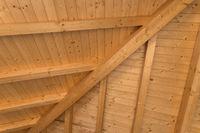 Interior wooden roof