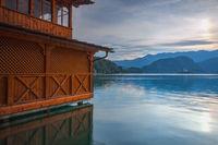 Sunset on Lake Bled, Slovenia