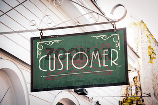 Street Sign to Customer
