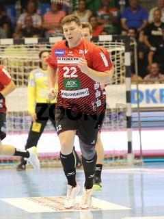 Philipp Vorlicek ( HSG Nordhorn-Lingen) beim Liqui Moly HBL Punktspiel SC Magdeburg gegen HSG Nordhorn-Lingen Saison 2019/2020