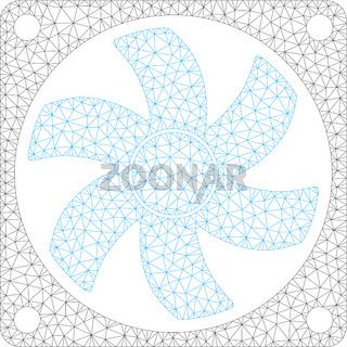 Air Conditioner Polygonal Frame Vector Mesh Illustration