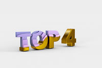 Top four on white background (done in 3d)