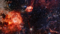 High definition star field, night sky space. Nebula and galaxies in space