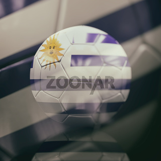 3d Soccer Ball with Uruguay Flag Illustration