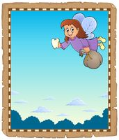 Parchment with tooth fairy theme 1