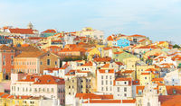 Panorama Lisbon Old Town Portugal