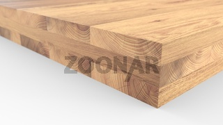 Glued wood structure. Lumber industrial wood texture, timber butts background. Butt end of a processed wooden beam. Glued beams. 3d illustration isolated