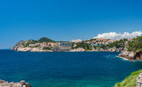 Hotels and vacation homes near the old town of Dubrovnik in Croatia