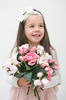 Beautiful little girl. Portrait. Studio shot