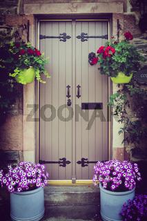 Cottage Door, Luss, Loch Lomond, Scotland