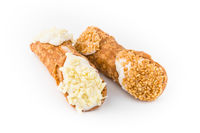 Two cannoli pastries