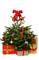 Christmas tree isolated on white background