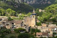 Parish Church of Sant Bartomeu in Valldemossa, Mallorca, Balearic Islands, Spain