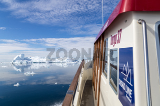 Disko Line Ferry in Ilulissat Icefjord