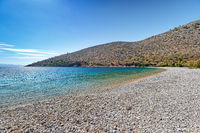 The beach Elinda in Chios, Greece