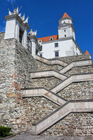 Crisscross Stairs to the Bratislava Castle
