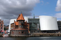 Pilot house at the harbor, behind the museum of natural history Ozeaneum