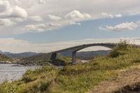 bridge of Atlantic Ocean Road and landscape of norwegian Coast