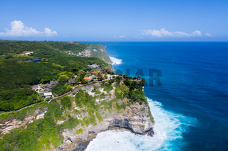 aerial view of beautiful bali island landscape
