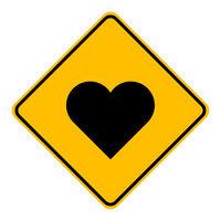 Herz und Schild - Heart and road sign