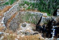 View to Ain el-Malik or Kings Spring in Ancient Byblos ruin, Jubayl, Lebanon