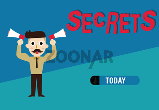 Word writing text Secrets. Business concept for Kept unknown by others Confidential Private Classified Unrevealed