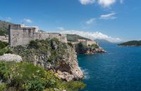 Fort Lawrence and city walls of the old town of Dubrovnik in Croatia