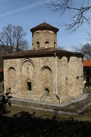 The church of the ancient Zemen Monastery, Bulgaria. Orthodox monastery. Bulgarian orthodox monaster