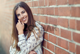 Attractive young woman with a lovely natural smile