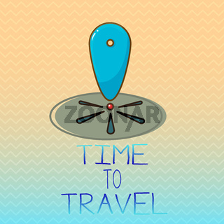 Conceptual hand writing showing Time To Travel. Business photo showcasing Moving or going from one place to another on vacation