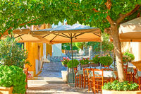 Charming street cafe in Athens