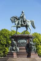 equestrian monument, Schwerin castle, Schwerin, Mecklenburg-Western Pomerania, Germany, Europe